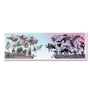 SkyHeart Good vs Evil Poster Print