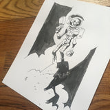 Skull Chaser, Mike Mignola Style - Original Art