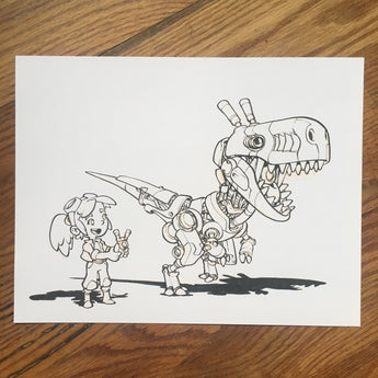 Remote Control Dino - Original Art