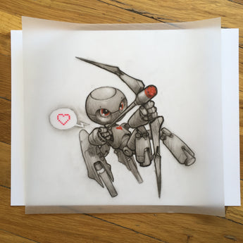 Robo-Cupid - Original Art