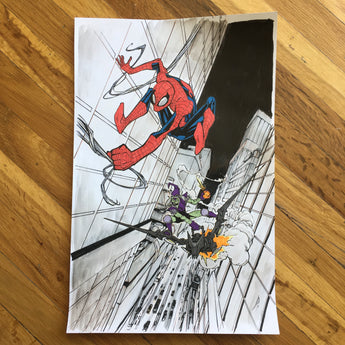 Spider Chase - Original Art