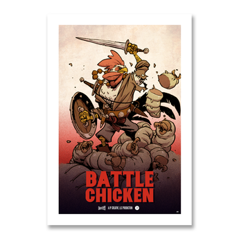 Battle Chicken Print
