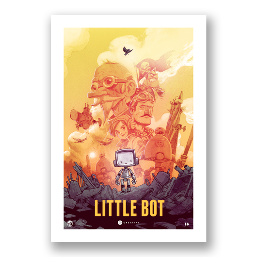 Little Bot Movie Print