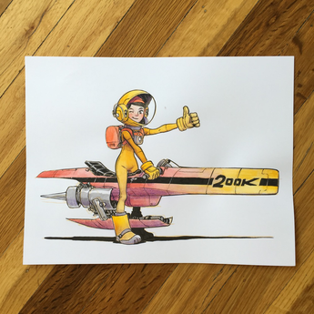 Spacegirl 200k - Original Art