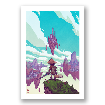 SkyHeart Floating City Print