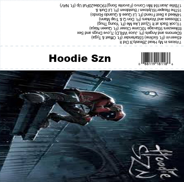 Hoodie Szn - A Boogie - The Cassette Corner - Music for inmates