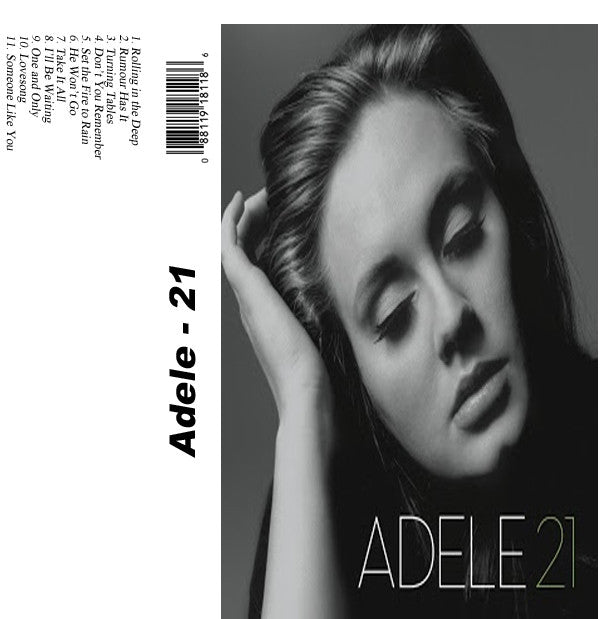 Adele 21 - Adele - The Cassette Corner - Music for inmates