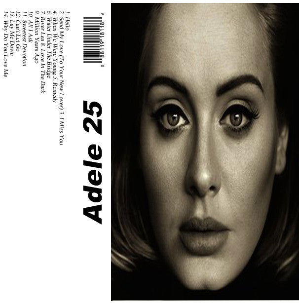 Adele 25 - Adele - The Cassette Corner - Music for inmates