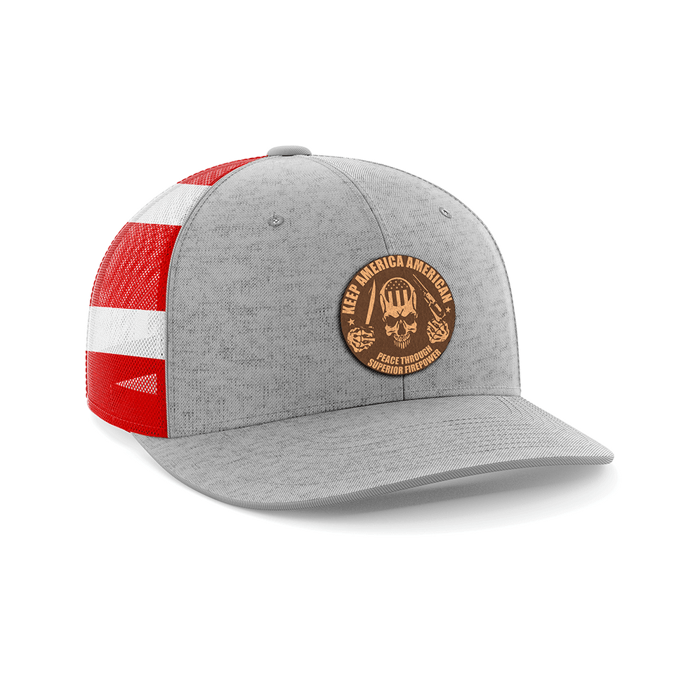 Keep America American Leather Patch Hat