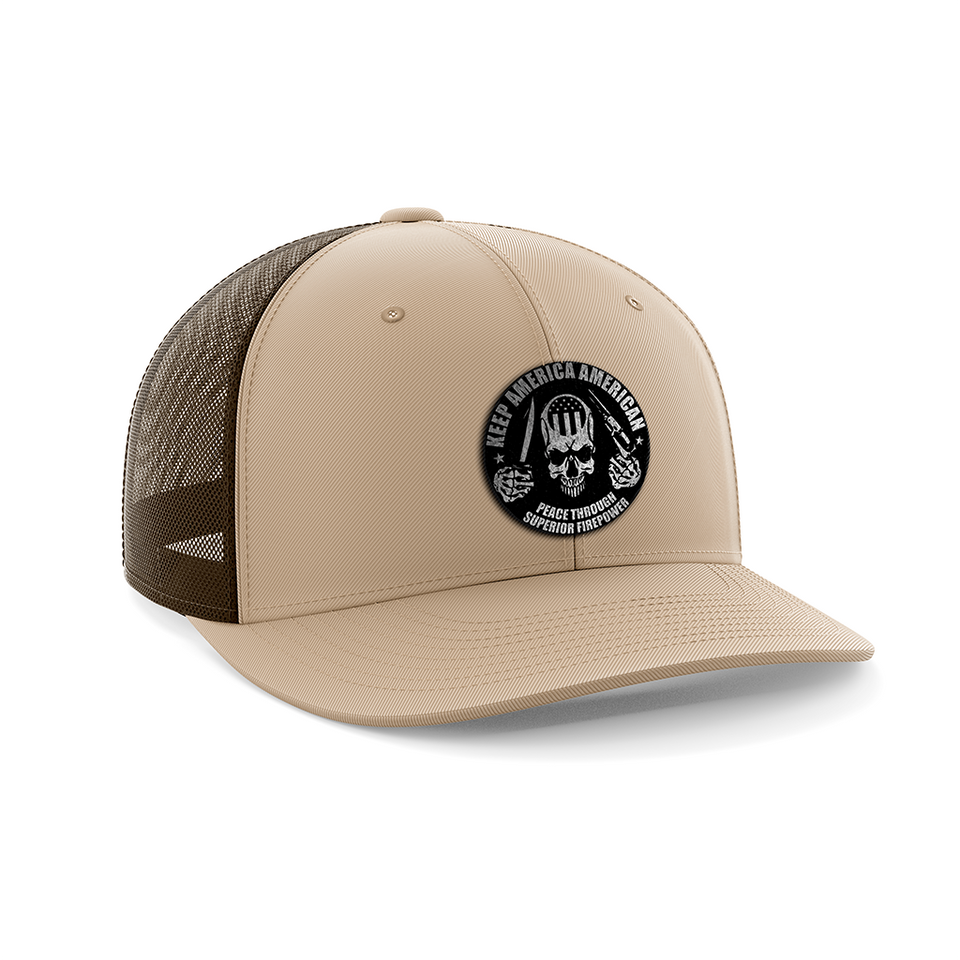Keep America American Black Patch Hat