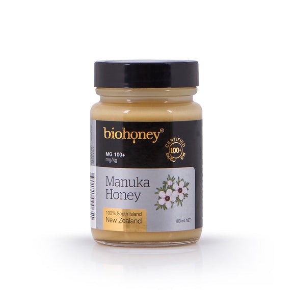 Manuka honey MG 100+ (glass jar, 100 ml.)