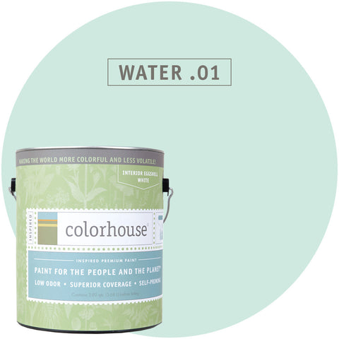 Water .01 Interior Paint, Paint, Colorhouse, Design Lad Living