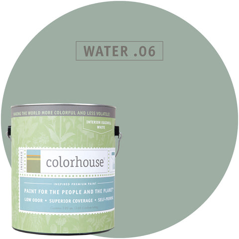 Water .06 Interior Paint, Paint, Colorhouse, Design Lad Living
