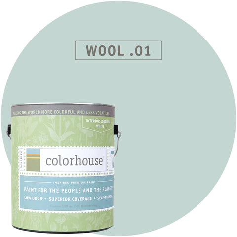 Wool .01 Interior Paint, Paint, Colorhouse, Design Lad Living