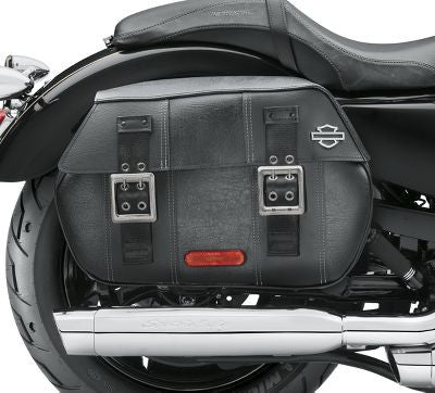 XL BLACK DISTRESSED LEATHER SADDLEBAGS