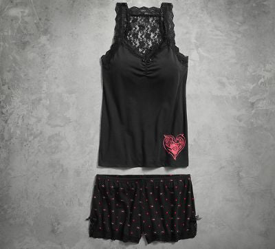 PERSONAL GARMENT-LACE TANK/BOY SHORT SET