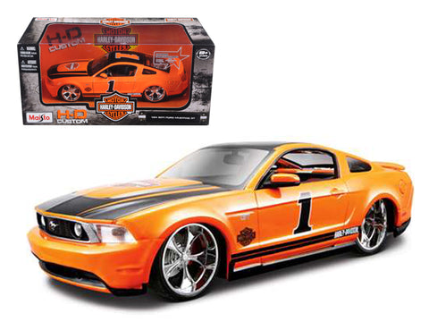 2011 Ford Mustang GT Harley Davidson Orange #1