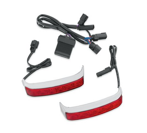 Electra Glo LED Saddlebag Run/Brake/Turn Lamp - Chrome Housing/Red Lens