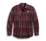 Men's High Density Print Plaid Shirt