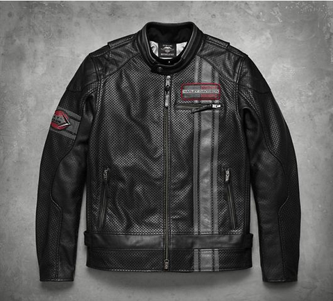 Men's Manta Leather Jacket with Coolcore™ Technology