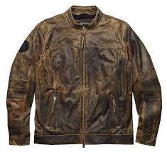Harley-Davidson® Men's Miramar Distressed Leather Jacket, Brown