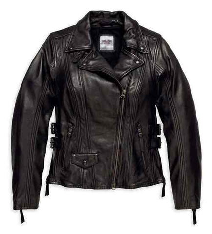 Harley-Davidson® Women's Faircrest Patina Leather Biker Jacket