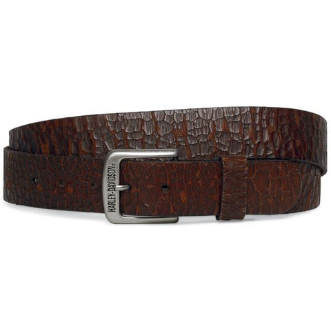 Harley-Davidson Brown Crackle Men's Belt