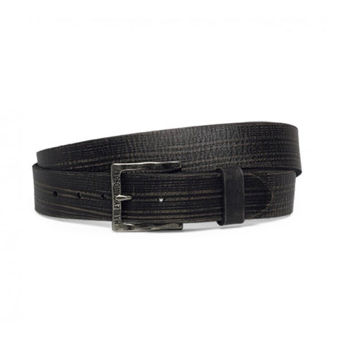 HARLEY-DAVIDSON MENS BLACK LABEL DISTRESSED LEATHER BELT