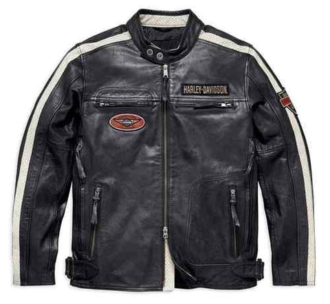 Harley-Davidson® Men's Command Mid-Weight Leather Jacket