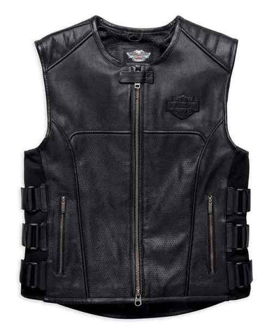 Harley-Davidson® Men's Swat II Genuine Leather Zippered Vest