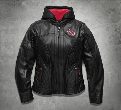 Women's Scroll Skull 3-in-1 Leather Jacket