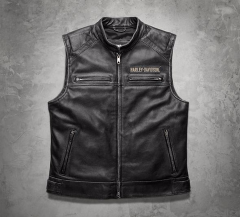 Men's Passing Link Leather Vest