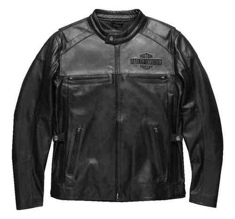 Harley-Davidson® Men's Votary Colorblocked Leather Jacket