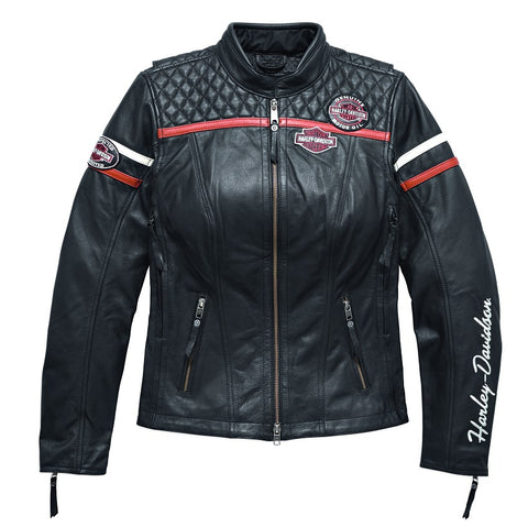 Harley-Davidson® Miss Enthusiast Triple Vent System Leather Jacket