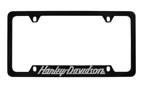 HARLEY-DAVIDSON® BLACK METAL LICENSE PLATE FRAME