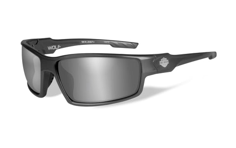 Wolf Sunglasses with Silver Flash Lens
