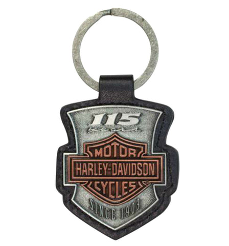 H-D® 115th Anniversary Antique-Finish Keyring