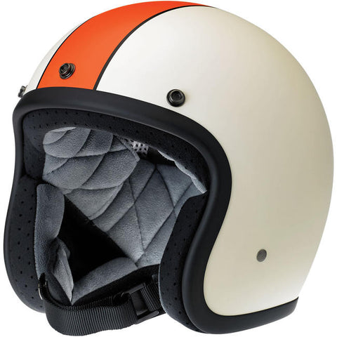 BONANZA HELMET - RACER FLAT CREAM/ORANGE