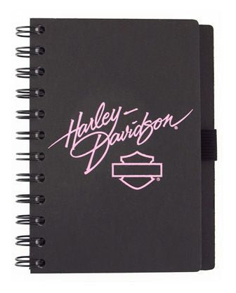 HD JOURNAL BLACK WITH PINK