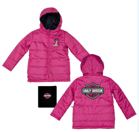 Harley-Davidson® Girls' Packable Puffy Jacket