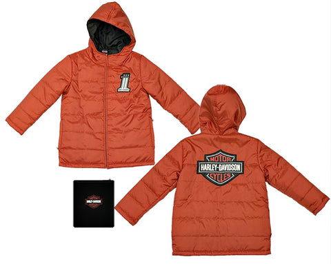 Harley-Davidson® Boys' Packable Puffy Jacket