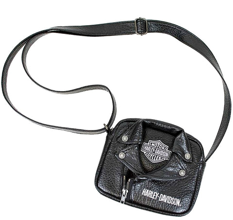 Harley-Davidson® Girls' Polyurethane Biker Crossbody Bag