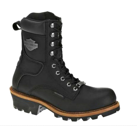 Harley-Davidson® Men's Tyson Logger Motorcycle Riding Boots | Black