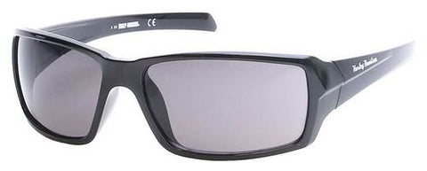 Men's H-D Script Sunglasses, Black Frame & Smoke Gray Lenses