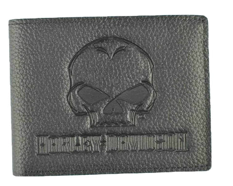 Harley-Davidson® Men's Willie G® Skull Embossed Leather