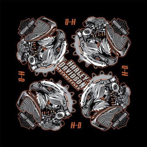 BANDANA EAGLE ENGINE BLACK SUBLIMATED