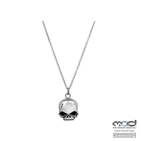 Black Stone Skull Necklace