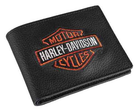 Harley-Davidson® Men's Embroidered Bi-fold Wallet