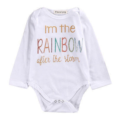 6c48e2afd01 Newborn Infant Baby Boy Girl Cotton Long Sleeve Romper rainbow Printed  Jumpsuit Kids Clothes Outfit