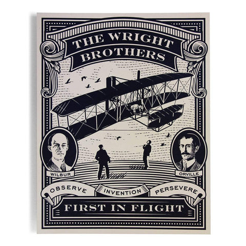 First in Flight letterpress postcard (4x6)